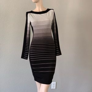 $98 BCBG black &white dress size XXS